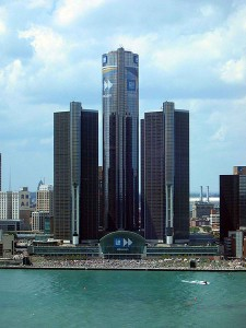 The Renaissance Center in Detroit, site of the MML Convention