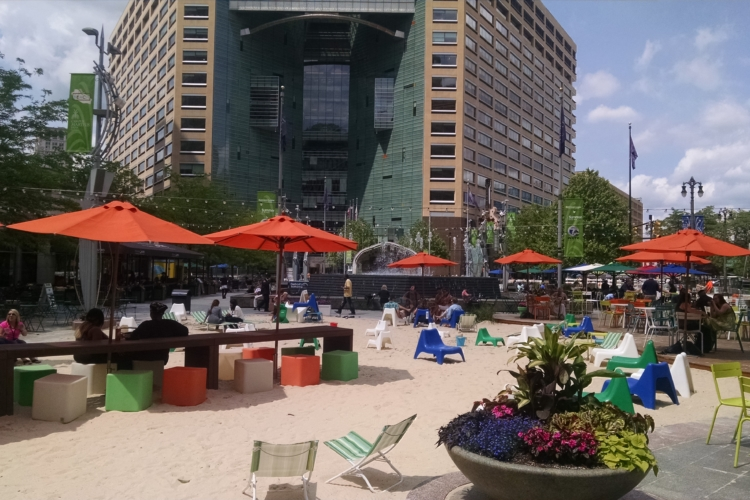 Campus Martius From My Seat On The South Lawn