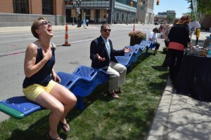 Lansing Mayor VIrg Bernero gets in on the fun, too
